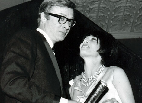 Michael Caine and Leslie Caron 1965