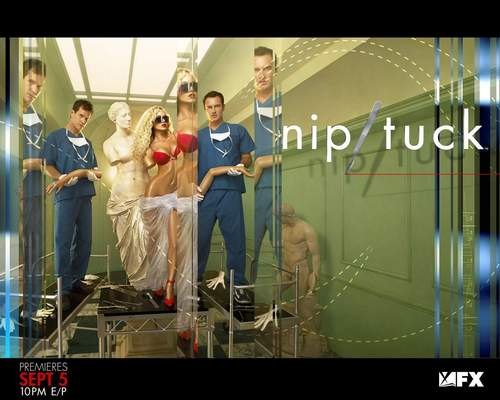 Nip/Tuck wallpaper possibly containing a sign and a portrait called NIP/TUCK