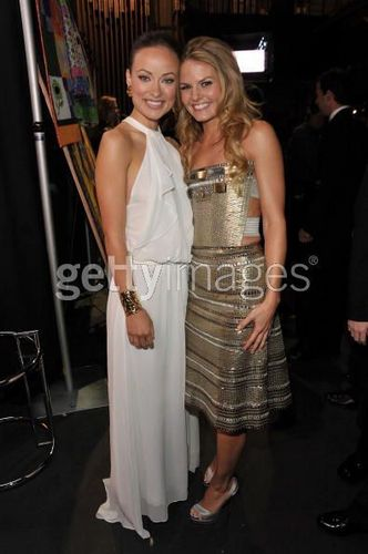 Olivia Wilde and JMo @ the 35th Annual People's Choice Awards