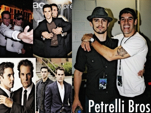 Heroes wallpaper with a business suit, a well dressed person, and a suit titled Petrelli Bros Wallpaper