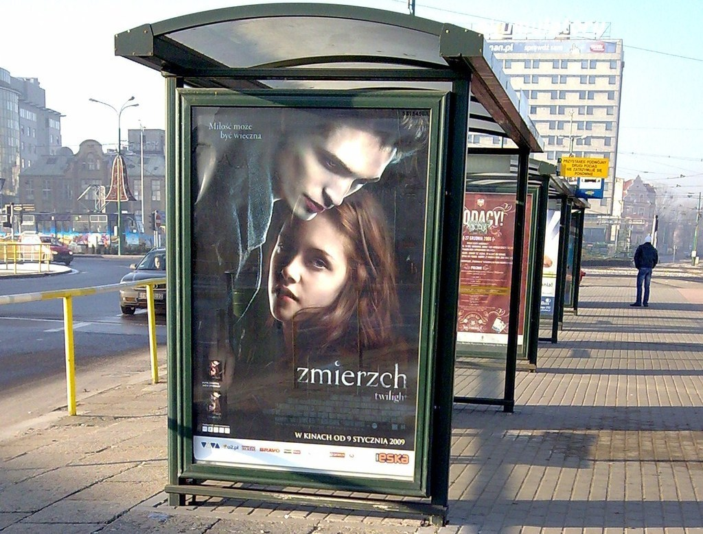 Poster At A Bus Stop In Poland 2009 Twilight Series