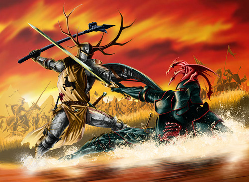 A Song of Ice and Fire wallpaper probably containing a rifleman and anime titled Robert vs Rhaegar