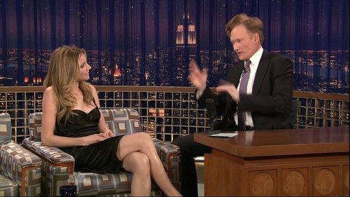 Sarah Chalke wallpaper possibly containing a living room, a dishwasher, and a hip boot titled Sarah On Conan 5/1/09