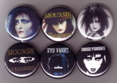 Siouxsie buttons / pins