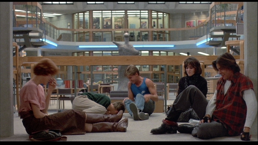 a review of the film the breakfast club A teen wrestler (emilio estevez), rebel (judd nelson), brain, beauty (molly ringwald) and shy girl.