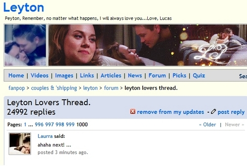 The LLT reaches 1000 pages!!! - leyton-lovers Photo