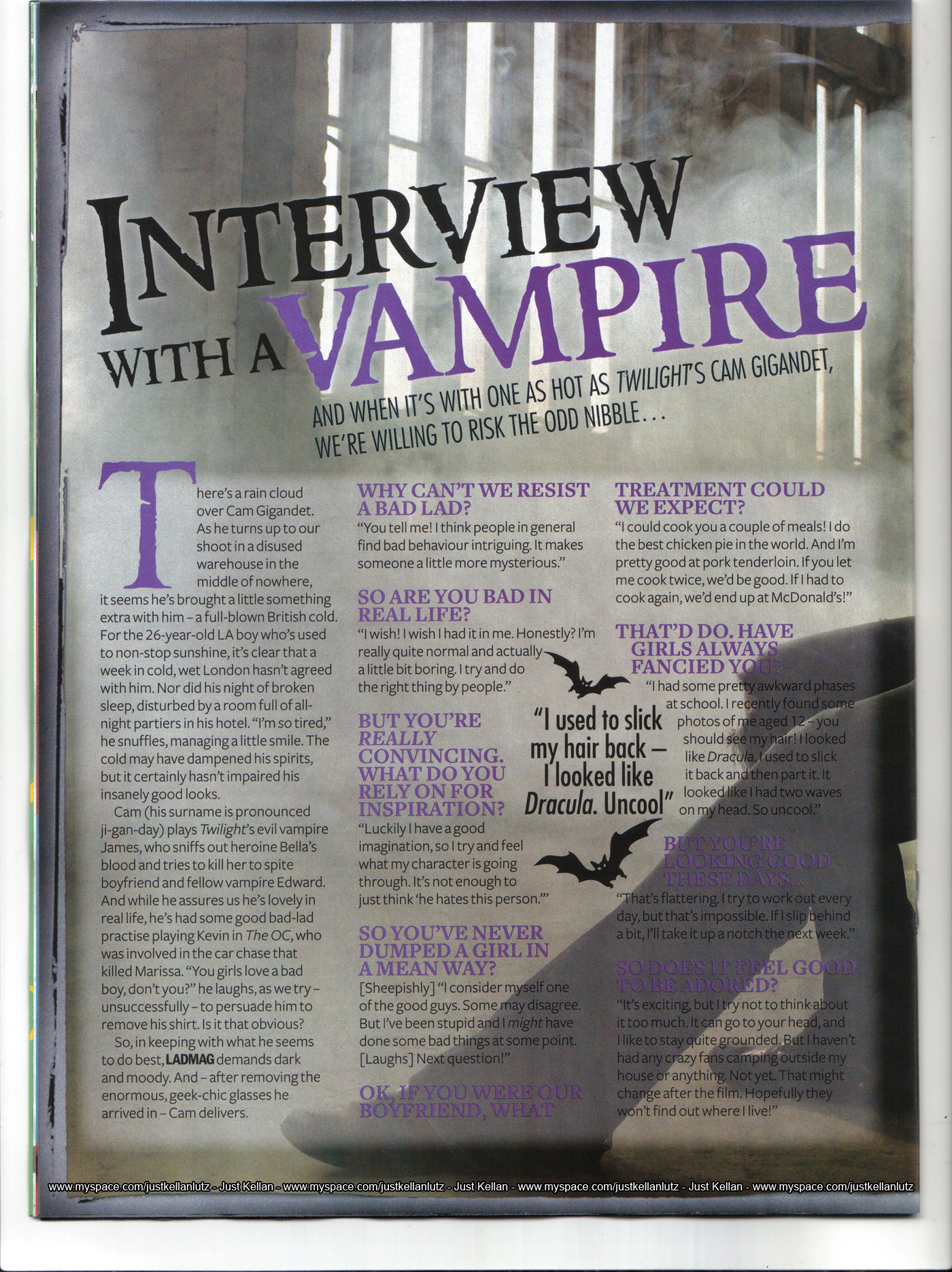 Twilight in Sugar Magazine 2009