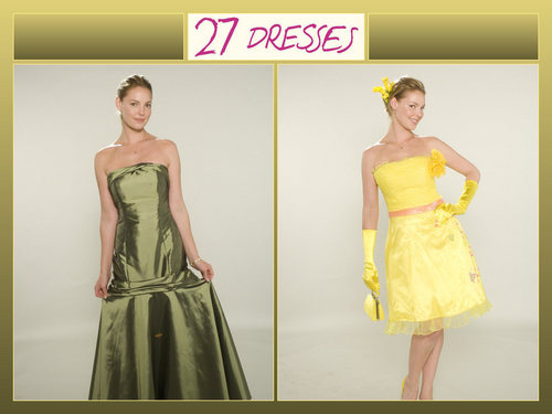 27 Dresses wallpaper with a gown, a dinner dress, and a bridal gown called 27 Dresses wallpaper
