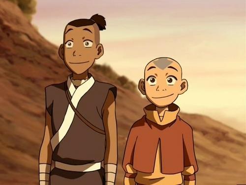 Avatar Der Herr Elemente Hintergrund Containing Anime Called Aang And Sokka