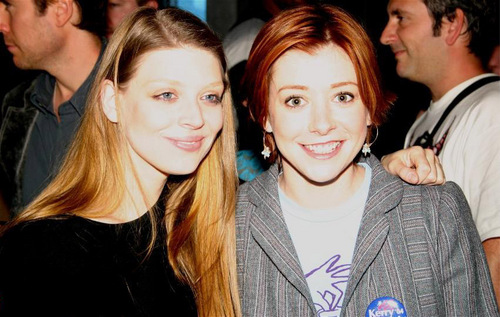 Alyson Hannigan and Amber Benson