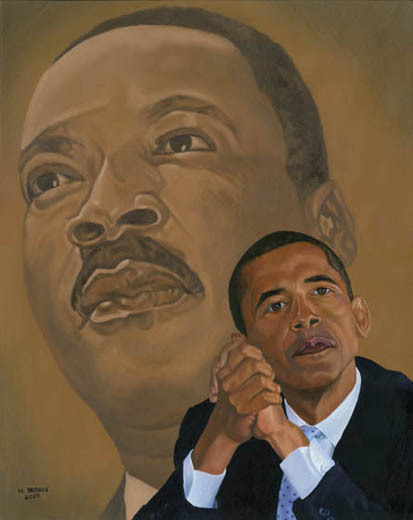 Barack Obama / Martin Luther King Painting