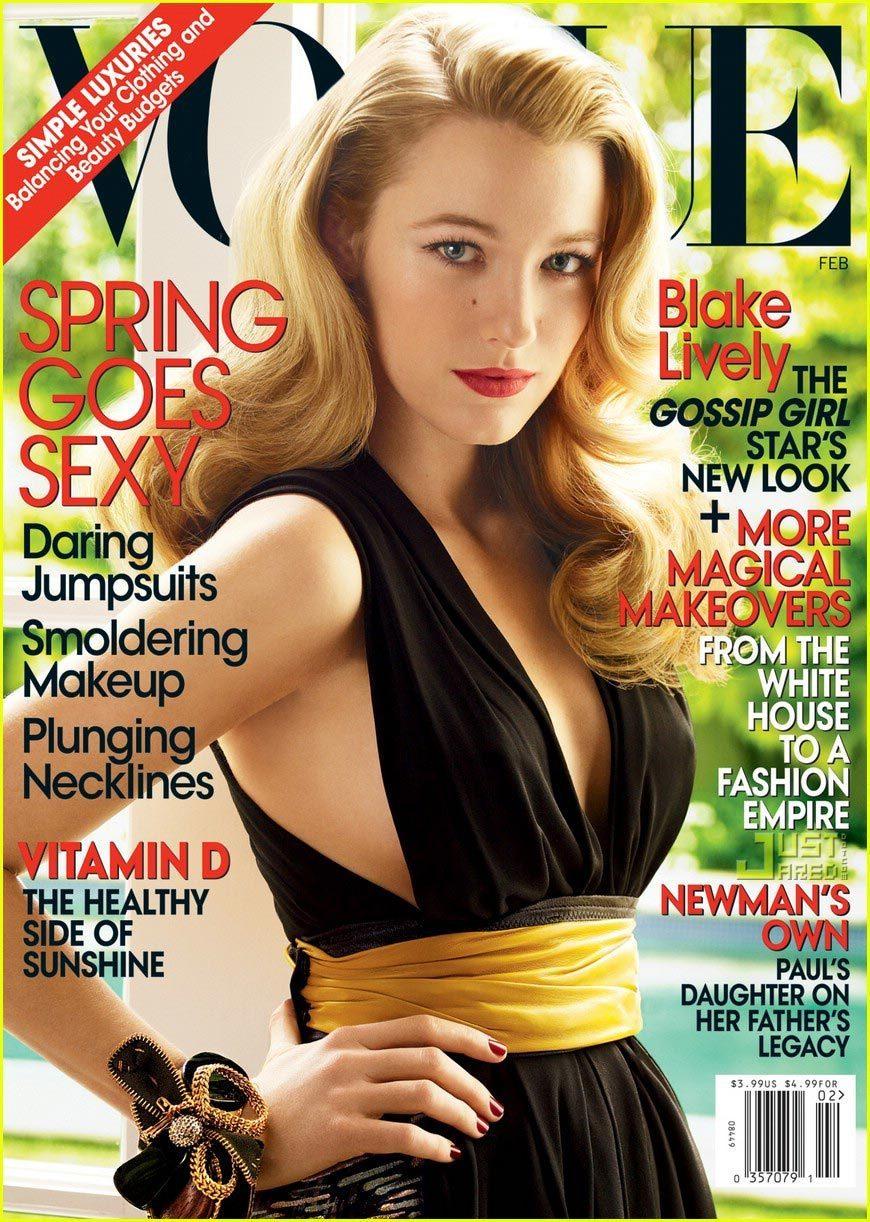 """Blake Lively Covers """"Vogue"""" February 2009"""