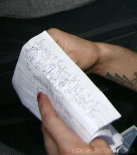 Blake's letter to Amy.