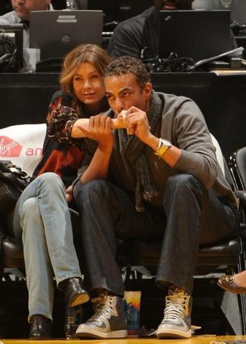 Cute Ellen & Chris at Lakers game :)