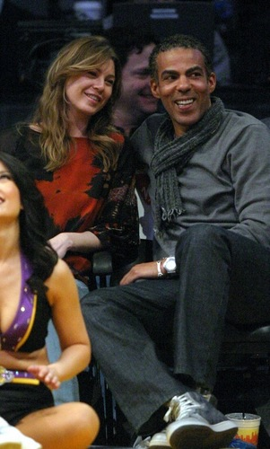 Cute Ellen & Chris at Lakers game :)