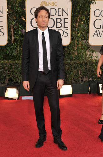 David Duchovny @ The Golden Globes 2009