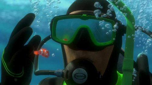 Finding Nemo wallpaper with an aqualung and a diver titled Finding Nemo