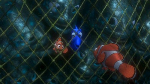 Finding Nemo karatasi la kupamba ukuta containing a chainlink fence titled Finding Nemo