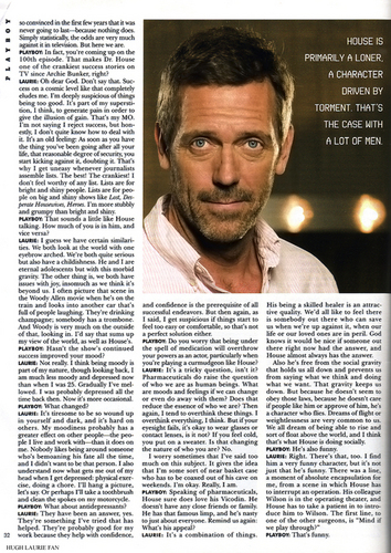 Hugh Laurie on PlayBoy Magazine 02/09