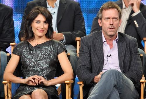 Hugh and Lisa at the TCA Panel