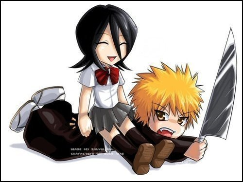 anime bleach wallpaper possibly containing anime entitled Ichigo And Rukia