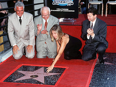 James Brolin honored with a estrella on the Hollywood Walk of Fame, August 27, 1998