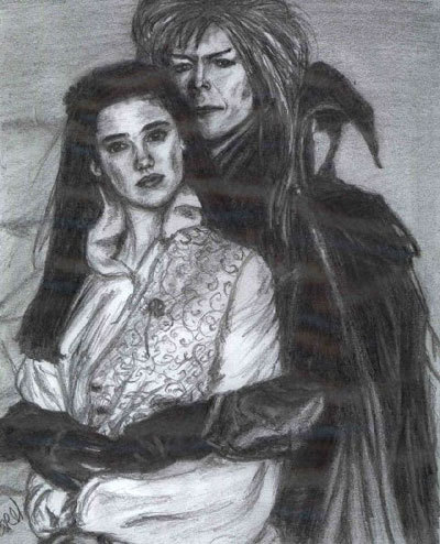 Labyrinth Hintergrund probably with a breastplate titled Jareth and Sarah