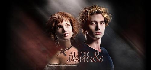 Twilight Series wallpaper containing a portrait entitled Jasper & Alice Header