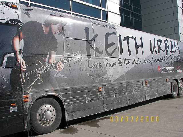 Keith Urban's Tour Bus