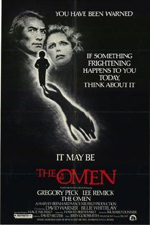 Gregory Peck Обои probably containing Аниме entitled Movie Poster for 'The Omen'