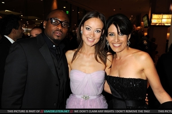 golden globes olivia. Omar Epps, Olivia Wilde and Lisa Edelstein @ The Golden Globes 2009