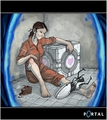 Portal girl - portal-the-game fan art