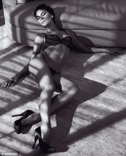 Victoria's Armani photo shoot