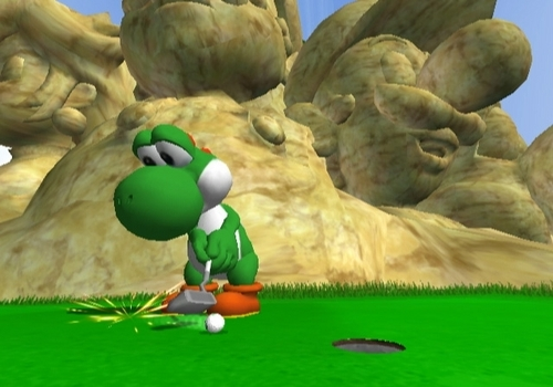Yoshi playing golf