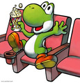Yoshi watching a movie