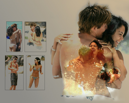 Zac Efron & Vanessa Hudgens wallpaper with a bridesmaid and a hot tub entitled Zac & Vanessa