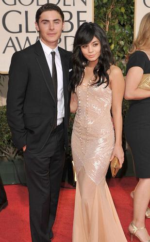 Zanessa @ 2009 Golden Globe Awards