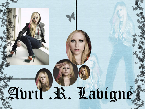 Avril Lavigne wallpaper probably containing a portrait titled avril
