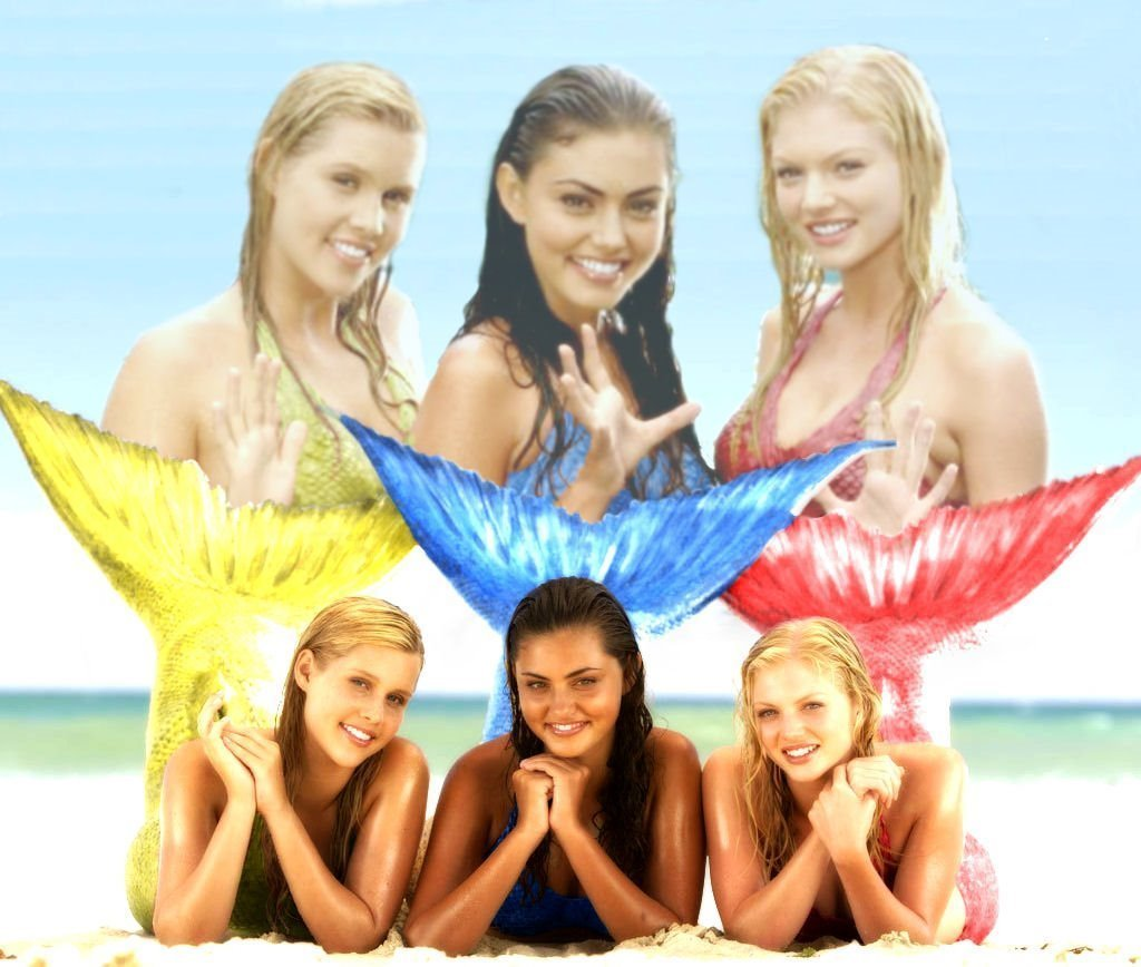 mermaids - cariba-heine-and-phoebe-tonkin fan art