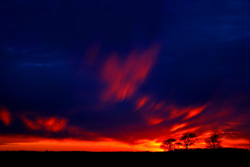 sky on आग