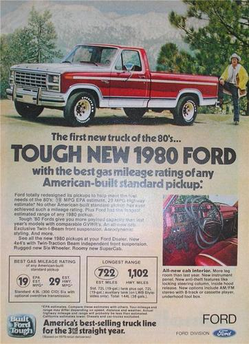 1980 Ford truck advertisement