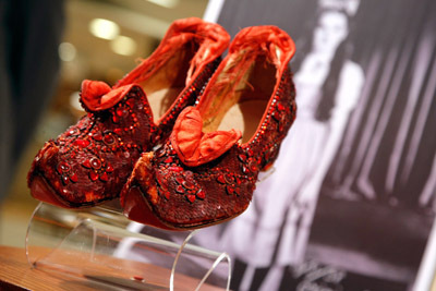 A Pair of Original Ruby Slippers from the Wizard of OZ