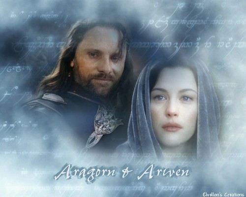 Aragorn and Arwen - lord-of-the-rings Wallpaper
