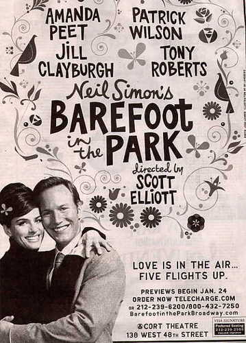 Patrick Wilson hình nền containing a sign called Barefoot in the Park