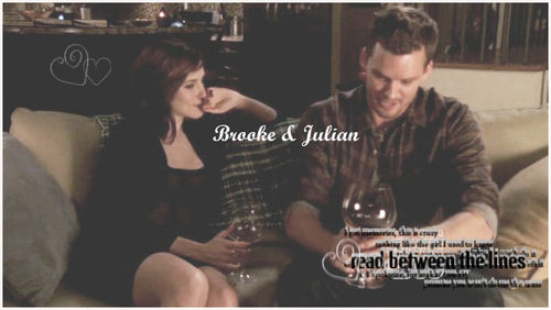 Brooke and Julian fondo de pantalla with a dishwasher and a sign entitled Brulian