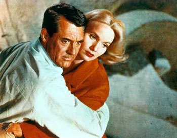 Cary Ggrant and Eva Marie Saint