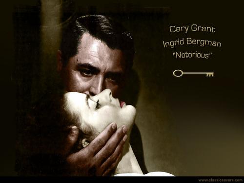 Cary Grant and Ingridbergman