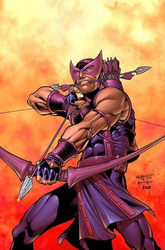 Hawkeye wallpaper possibly with a lippizan, a hip boot, and anime called Clint Barton