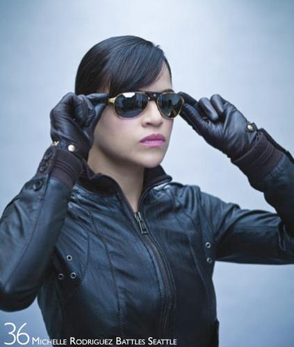 Michelle Rodriguez fond d'écran with sunglasses entitled H Magazine Photoshoot