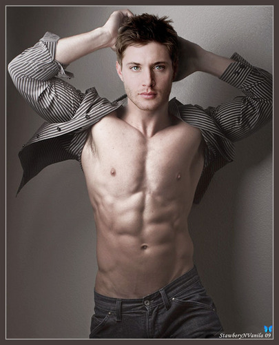 Дженсен Эклс Обои containing a ломоть and a six pack called Jensen Manips